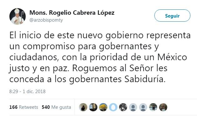 El Episcopado Mexicano pondera la crítica de AMLO al neoliberalismo, llama a apoyarlo y lo felicita