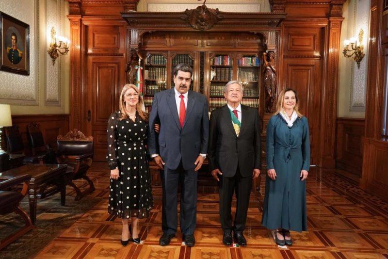 """Video: AMLO agradece a Maduro que haya venido y le responde:  """"Cuente con Venezuela para lo que sea"""""""
