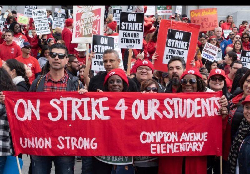 Video: Con su huelga, los maestros angelinos se proponen el rescate de la educación pública, tan descuidada y atacada que tiene rasgos de Tercer Mundo