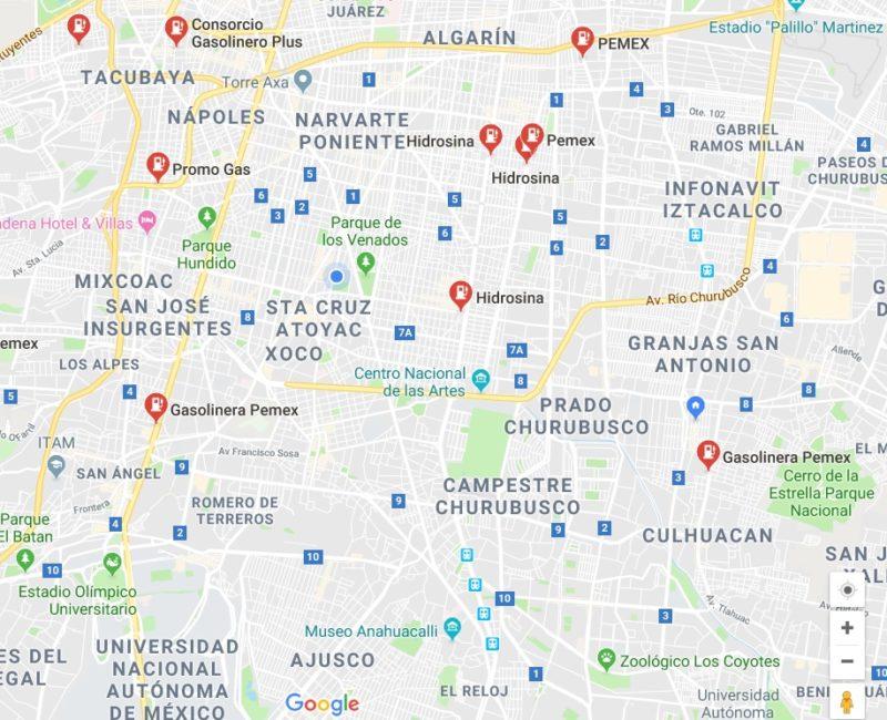 Google Maps reporta sobre las gasolineras en servicio