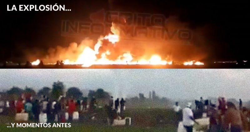 Videos: Una toma clandestina explota: reportan 20 muertos y decenas de heridos; robaban la gasolina