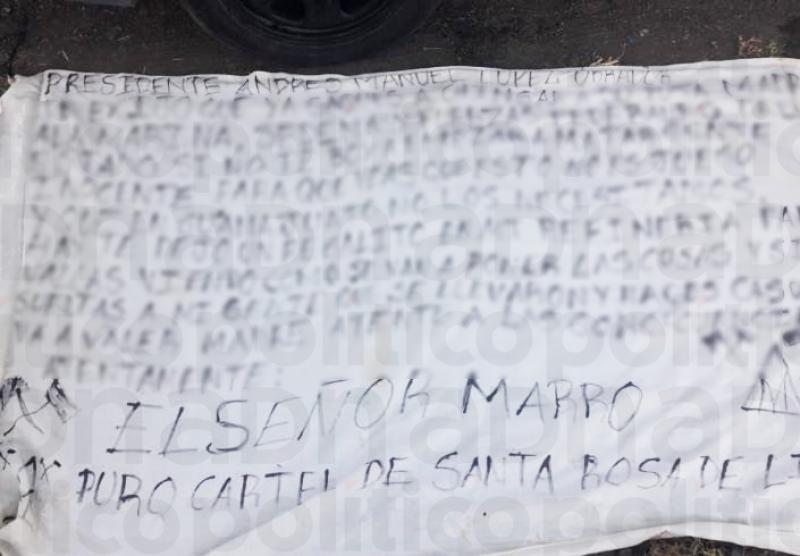 Cartel Santa Rosa de Lima exige a AMLO sacar a fuerzas federales de Guanajuato que luchan contra el huachicol