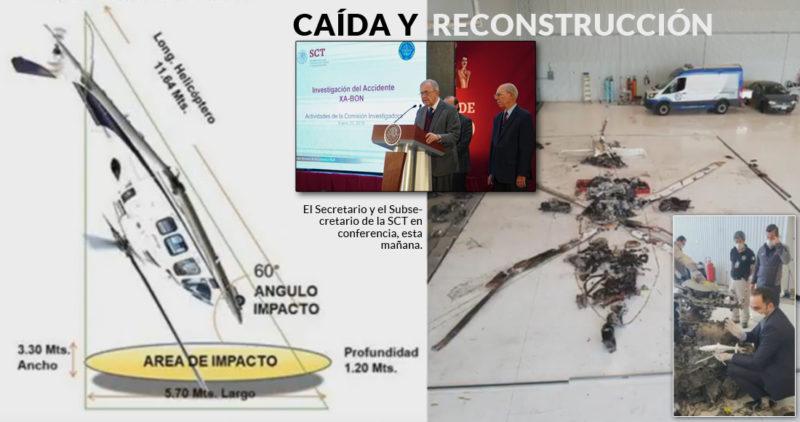 """El helicóptero de Martha Érika y Moreno Valle cayó en picada: SCT. """"Sí es inusual, no es lo normal"""""""