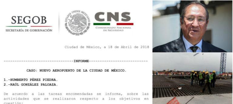 La Policía Federal detectó actividades relacionadas con delincuencia organizada y delitos de alto impacto en construcción del Nuevo Aeropuerto Internacional de la Ciudad de México, de acuerdo a reportes confidenciales