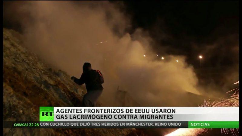 Videos: Patrulla Fronteriza lanza gas lacrimógeno a centroamericanos que intentaron cruzar la frontera desde Tijuana