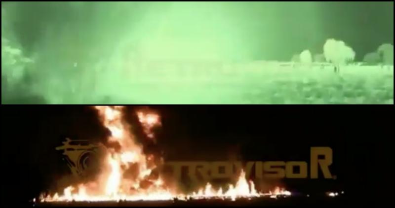 VIDEO del momento exacto en que estalló la toma clandestina en Tlahuelilpan, Hidalgo, que dejó 21 muertos y 71 heridos