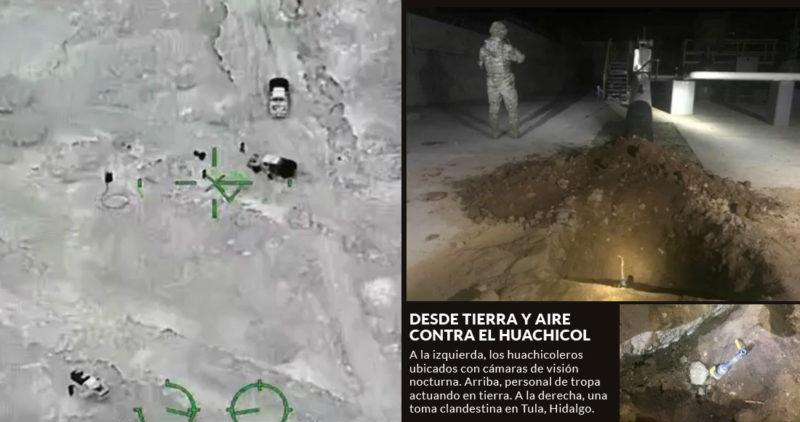 Marina, Fuerza Aérea y Ejército, con 14 aeronaves, operan en 11 ductos para detener el robo