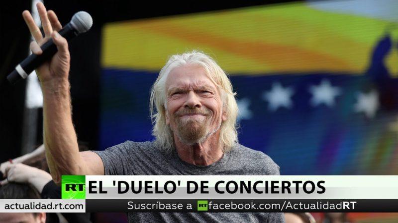 Video: 'Duelo' de conciertos y ayuda humanitaria en la frontera de Colombia y Venezuela