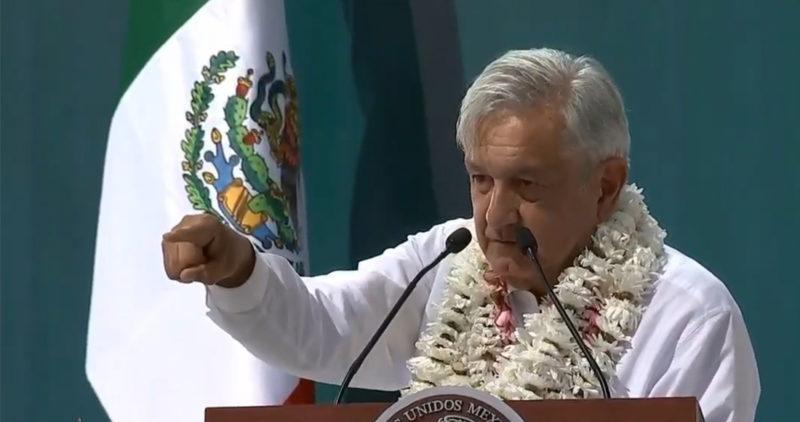 AMLO ofrece desde Morelos la consulta para la termoeléctrica; Concejo Indígena le dice que no