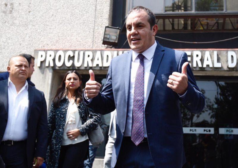 Cuauhtémoc Blanco denuncia a Graco Ramírez por delincuencia organizada