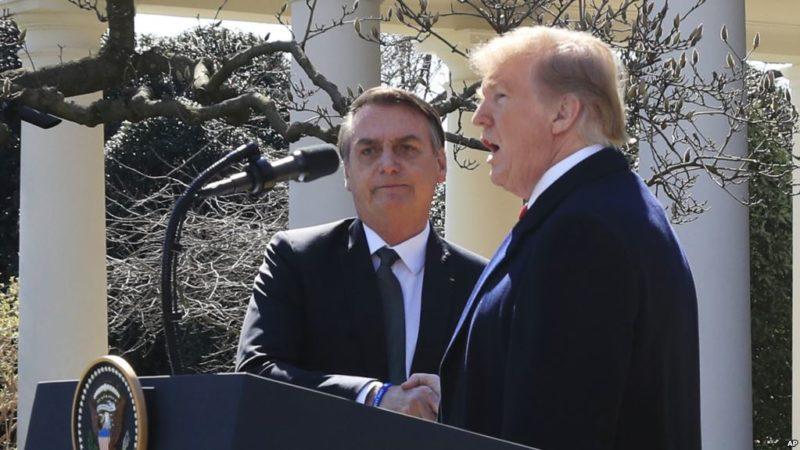 """Trump durante reunión con Bolsonaro: """"Maduro no es más que un títere cubano"""""""