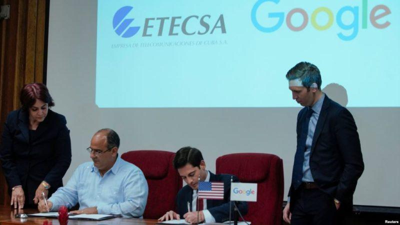 Google y Cuba firman acuerdo para mejorar conectividad en la isla