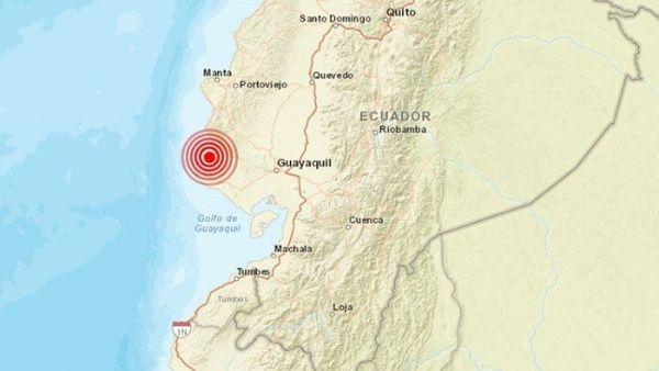 Reportan sismo de magnitud 6,6 en región costera de Ecuador