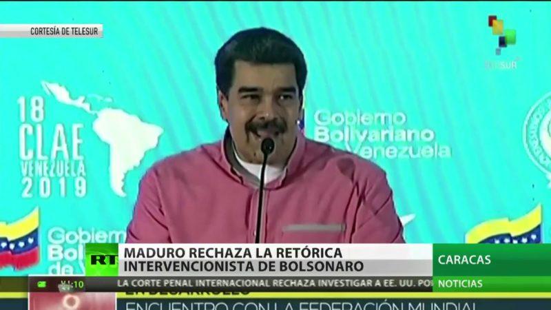 """""""Es un imitador de Hitler, un loco"""": Maduro arremete contra Bolsonaro por las amenazas de una posible intervención en Venezuela"""