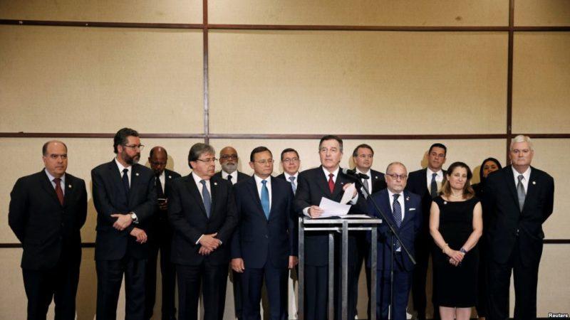 Grupo de Lima hace llamado a la comunidad internacional por crisis en Venezuela