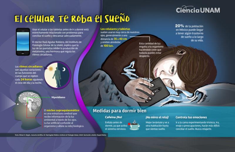 ¡El celular te roba el sueño!