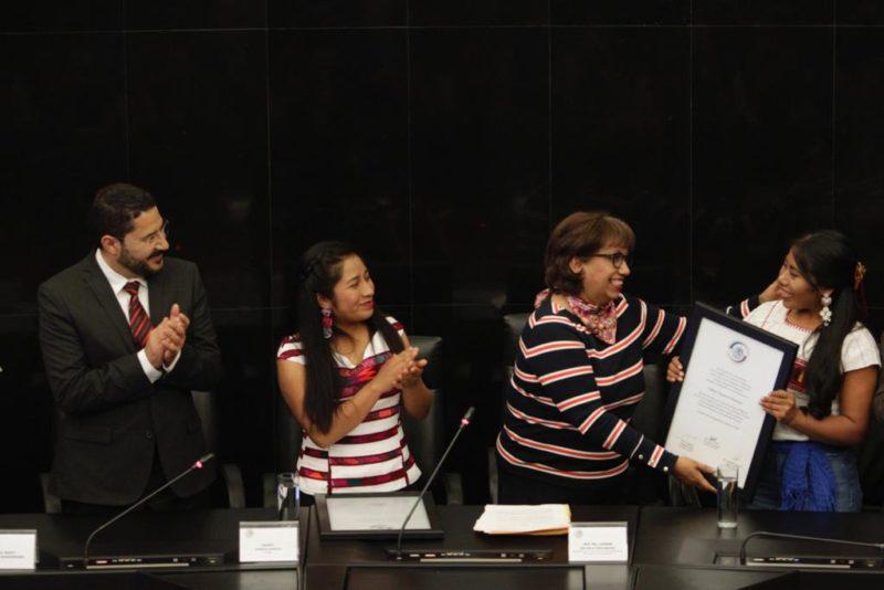 Reconoce Senado a Yalitza Aparicio y Nancy García por su participación en la cinta Roma