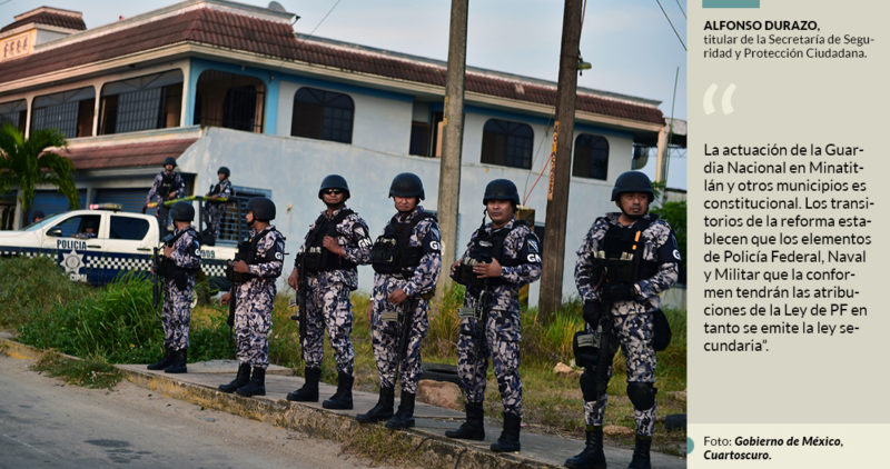 Guardia Nacional en Veracruz no es ilegal: Durazo; opera ya por la emergencia, responde a críticas