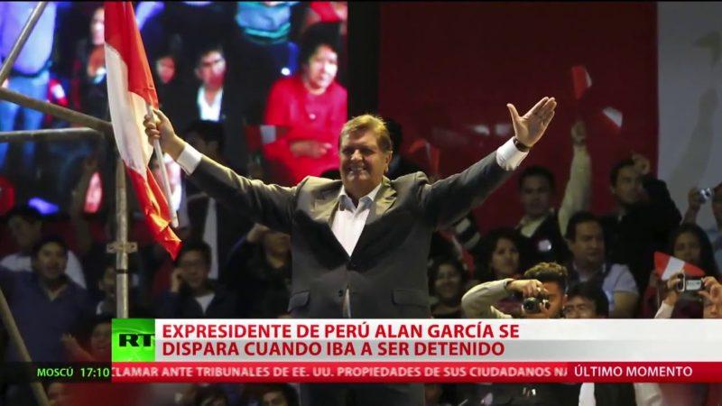 Videos: El expresidente peruano Alan García se disparó un tiro cuando iba a ser detenido por la Policía por el caso Odebrecht