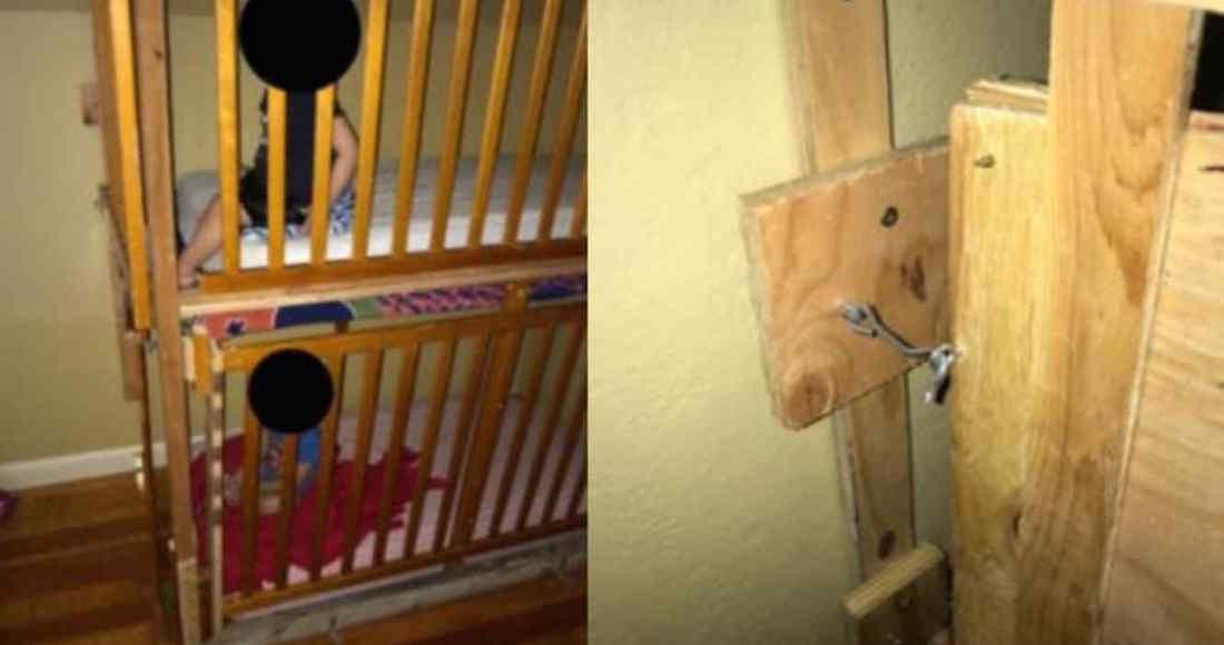 """Una pareja tenía a 2 niños encerrados """"en jaulas de perros"""" hechas de madera; los padres, detenidos"""