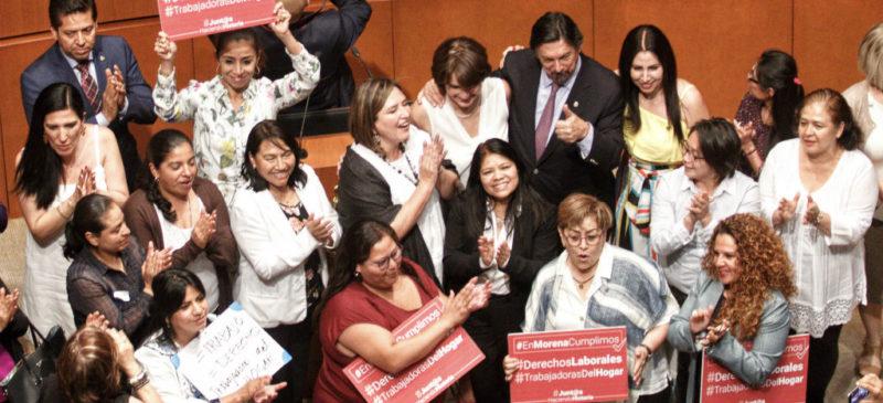 Aprueba Senado reforma que otorga derechos laborales a trabajadoras del hogar