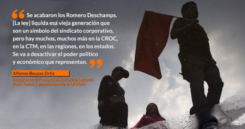 La Reforma Laboral 2019 acerca la lumbre a una generación de líderes como Romero Deschamps