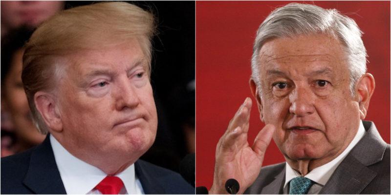 Trump amenaza con enviar más soldados a la frontera y AMLO responde que no se peleará con él y que no caerá en ninguna provocación. Ofrece Amistad y respeto