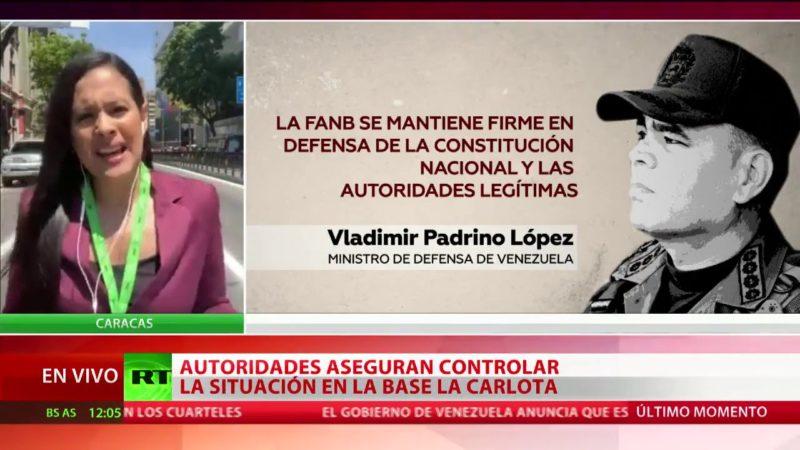 Videos: Derrotado el intento de golpe de estado. Maduro asegura que todos los mandos militares le son leales