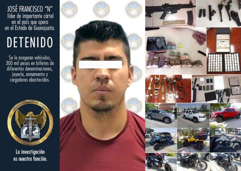 Arrestan en Guanajuato a presunto líder del cártel del Golfo