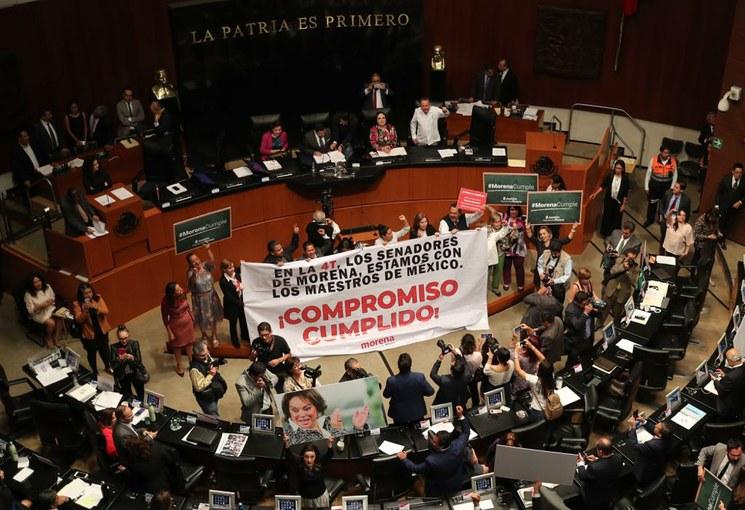 Ahora sí, el pleno del Senado aprueba la reforma educativa; fue remitida a congresos estatales para que la aprueben o rechacen
