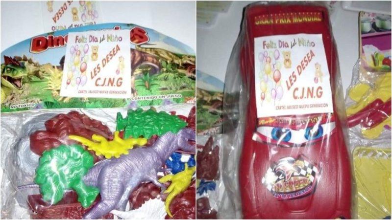En el Día del Niño, Cartel Jalisco Nueva Generación repartió juguetes en Veracruz