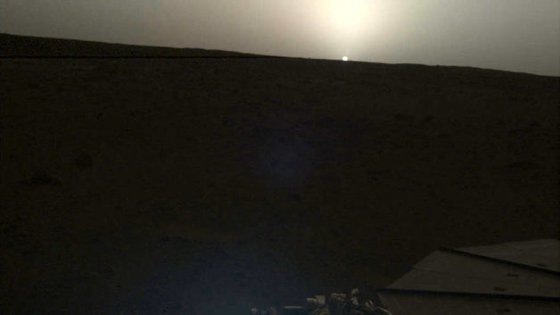 Así es el amanecer y atardecer en Marte
