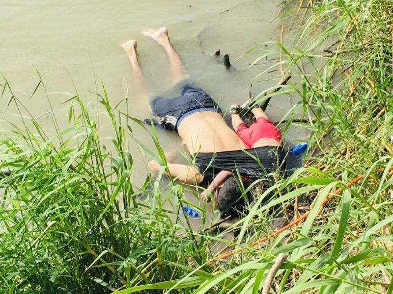 Salvadoreño y su hija mueren ahogados en intento por llegar a EU