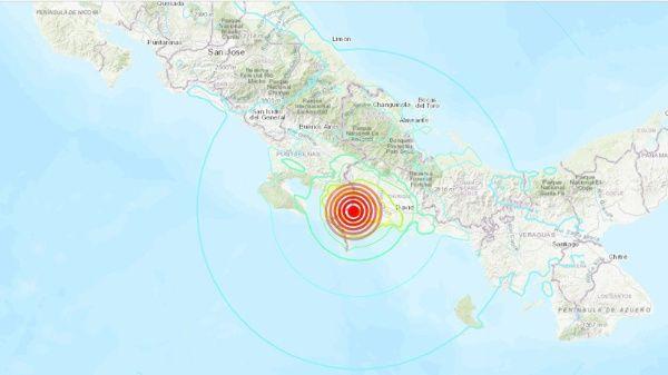 Sismo de magnitud 6,3 sacude frontera entre Panamá y Costa Rica; no se reportan daños de consideración ni fatalidades