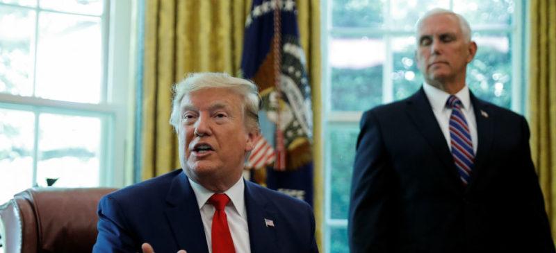 México hace más que los demócratas para asegurar nuestra frontera, dice el vicepresidente Pence y lo avala Trump