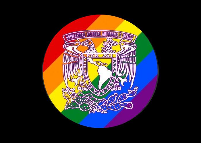 Con colores del arcoiris en su escudo, la Universidad Nacional Autónoma de México celebra la diversidad sexual