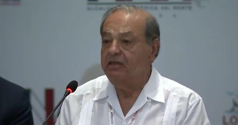 """Carlos Slim: """"Por el bien de todos, hay que invertir en el sureste de México y en Centroamérica"""""""