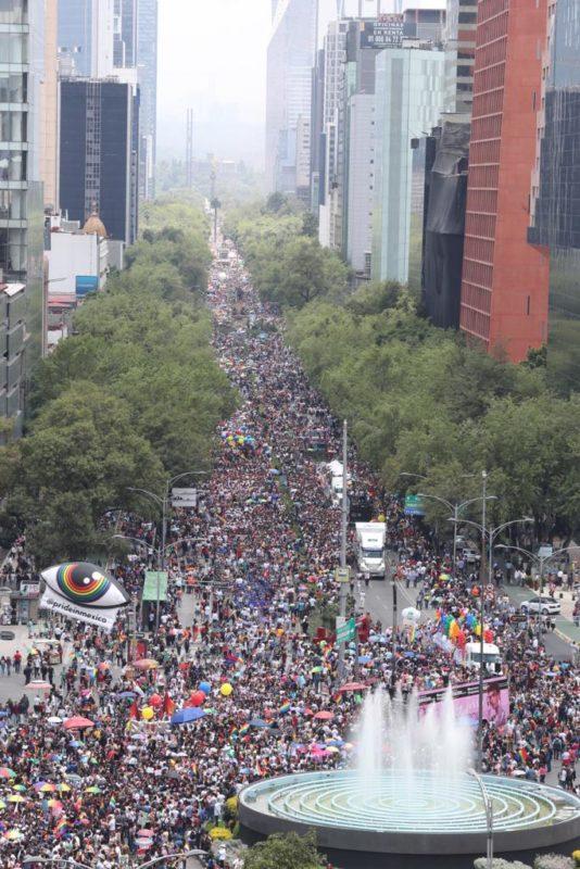 Reporta la SSC 170 mil asistentes a la marcha del orgullo LGBTI+