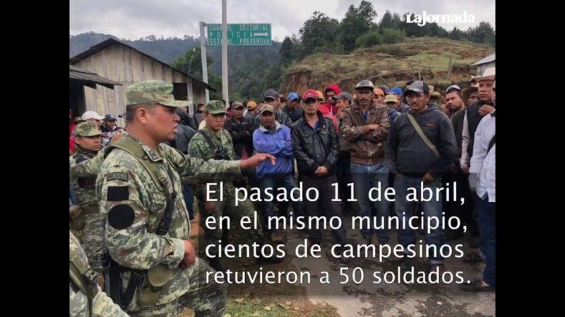 Liberan a 50 militares retenidos por campesinos en Guerrero; les entregaron el fertilizante que exigían