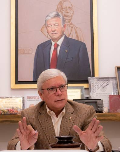 """Tras el rechazo de AMLO a la """"Ley Bonilla"""",  el presidente de la Cámara de Diputados, Porfirio Muñoz Ledo, advierte que es posible la desaparición de poderes en Baja California"""