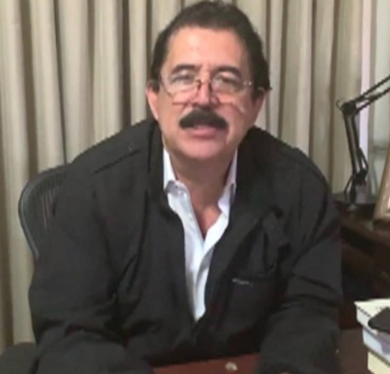 """Video: Manuel Zelaya, a 10 años del golpe en su contra: """"Las políticas del Comando Sur están provocando cada día más migrantes"""""""