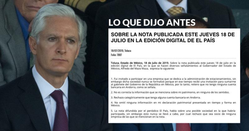 """Del Mazo se desdice: ahora afirma que sí abrió cuenta en Andorra, y que """"no fue la mejor decisión"""""""