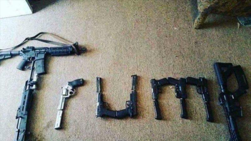 Foto que relaciona a atacante de tiroteo de Texas con Trump