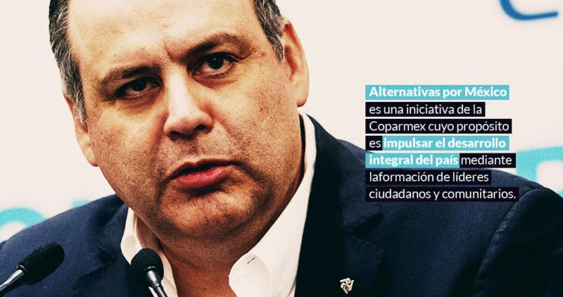 Coparmex no creará un partido politico ni será sistemático crítico de AMLO, pero tampoco dará un cheque en blanco: De Hoyos