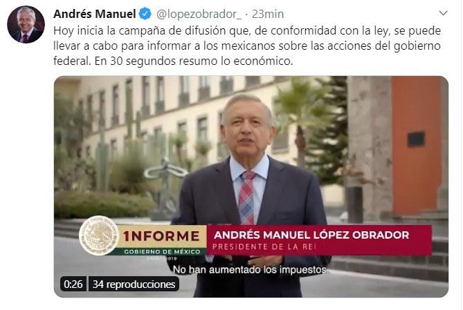 Videos: AMLO difunde logros en dos espots rumbo al informe