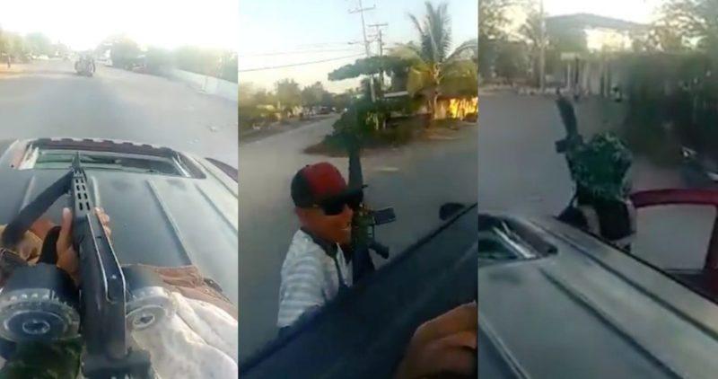 Video: Criminales se descaran en Michoacán: Un comando pasea tranquilo por las calles de La Ruana