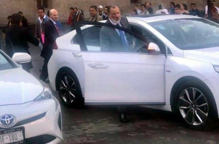 Ex secretarios de Hacienda,  José Antonio Meade y José Antonio González Anaya, se reúnen con el titular de esa dependencia, Arturo Herrera