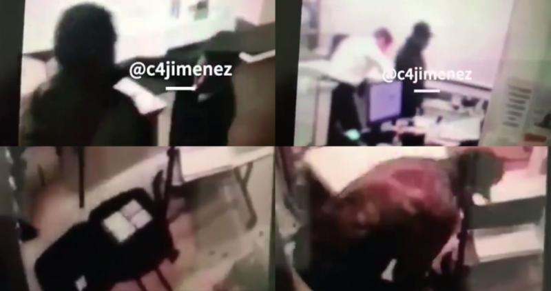 Periodista difunde VIDEOS con los detalles del asalto en Casa de Moneda; muy tranquilitos, todos…