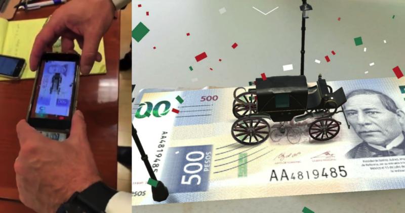 Videos: Novedosa y atractiva aplicación sobre realidad aumentada para detectar si los nuevos billetes de 200 y 500 pesos son falsos; emiten sonidos sobre figuras que los distinguen