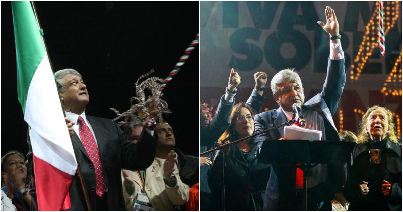 """Videos: AMLO dio el Grito 5 veces como """"Presidente legítimo"""" y hoy es su primero como Jefe de Estado"""